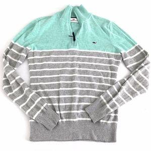 Vineyard Vines Stripe Quarter Zip Sweater